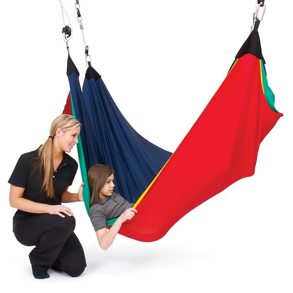 Sensory Hammock Swing, Lycra Net Acrobat Swing: Southpaw