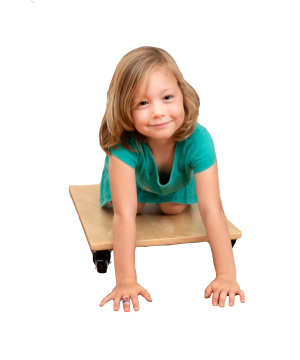 Sensory Scooter Board - Wooden with 4 Rotational Wheels